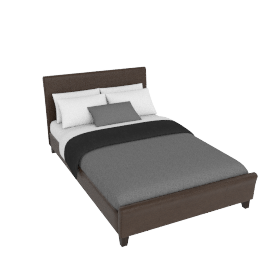 Milan Bedstead Small Double, Chocolate Brown