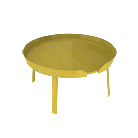 Around Table, Large - Yellow