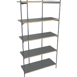 Mino shelving unit, grey