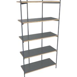 Mino shelving unit, grey