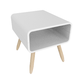Esme side table, white