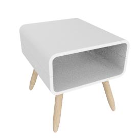 Esme side table, white
