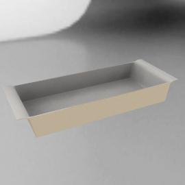 Ceramic Rectangular Dish, Vanilla, L36cm