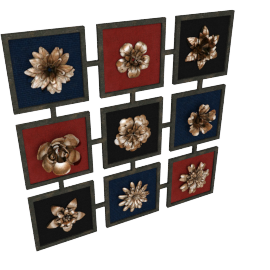 Floral Fiesta Wall Decor - 50.5x50.5x2.5 cms