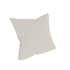 Como Throw Pillow in Leather, Gesso