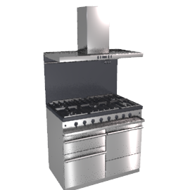 Westahl WG1053GECTBSSAPK1 Dual Fuel Cooker, Hood and Splashback Package, Stainless Steel