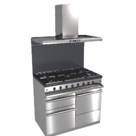Westahl WG1053GECTBSSAPK1 Dual Fuel Cooker, Hood and Splashback Package, Stainless Steel