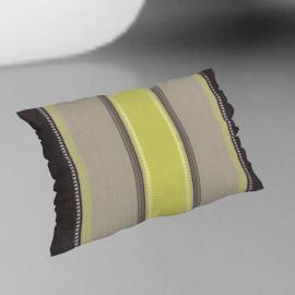 Kerela Stripe Cushion, Green/Grey, 30 x 50cm