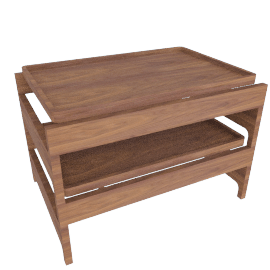 Tray Rack Side Table - Walnut