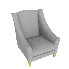 Mario Armchair, Grey