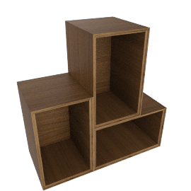 Forma Small Mixed Set, Walnut
