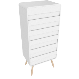 Esme tall chests of drawers, white