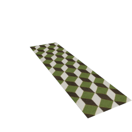 Ravello Flatweave Runner - Green.Charcoal