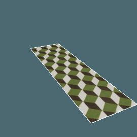 Ravello Flatweave Runner - Green.Charcoal