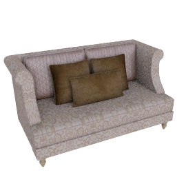 Juliette 2 Seater Beige and Gold