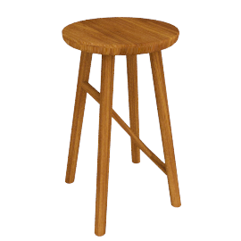 Why Wood Bar Stool, Oak