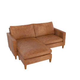 Bailey LHF  Chaise End Sofa, Lustre Cappuccino