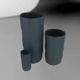 Tina Frey - Medium Vase - Grey