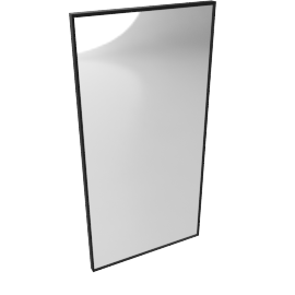 Mondrian Mirror 22'' x 24'', Black