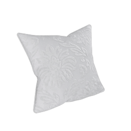 Devore Cushion Cover - 45x45 cms, Cream