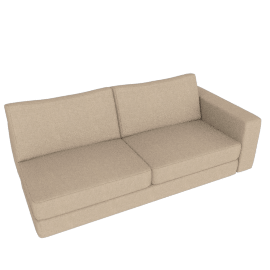 Reid One-Arm Sofa Right, Lama Tweed - Oatmeal