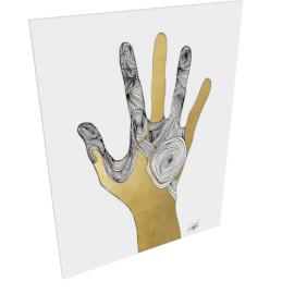 Sign Language I by KelliEllis - 30''x40'', Gallery wrap
