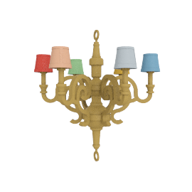 Paper Chandelier XL Patchwork