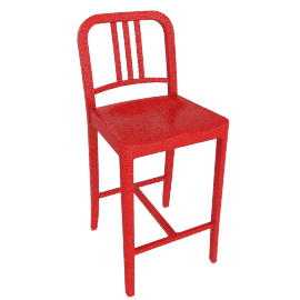 111 Navy Counter Stool, Coca-Cola Red