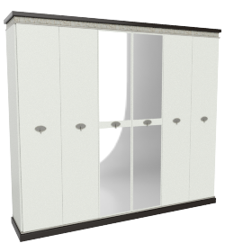 Lorenza 6-Door Wardrobe