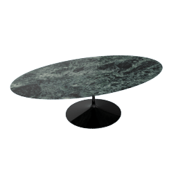 Saarinen Oval Dining Table 96'', Coated Marble 2 - Blk.VerdeAlpi