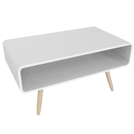 Esme compact coffee table, white