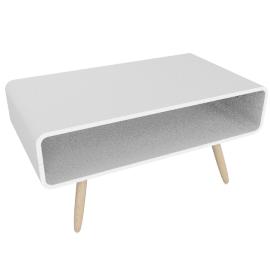 Esme compact coffee table, white