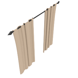 Plain Silk Pencil Pleat Curtains, Ivory, W264 x Drop 228cm