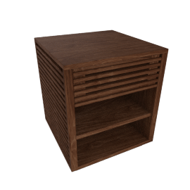 Line Bedside Table, Walnut