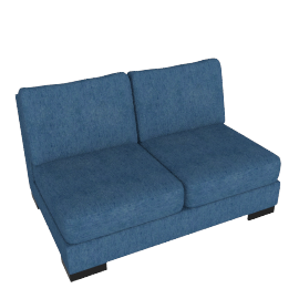 Signature 2 Seater Armless, Blue