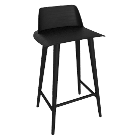 Nerd Counter Stool, Black
