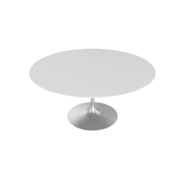 Saarinen Round Dining Table 60'', Laminate - Platinum.White