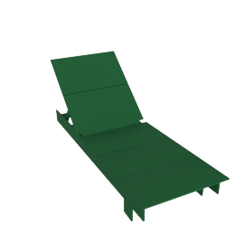 Lollygagger Chaise, British Green
