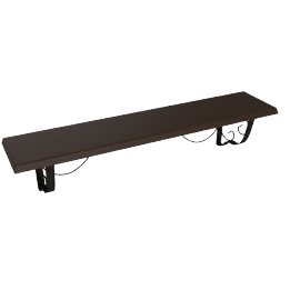 Lincoln Shelf 71 cm, Espresso