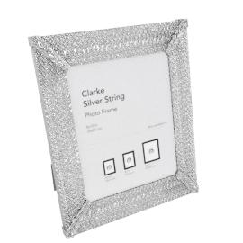 Clarke Photo Frame - 5x7 inch, Silver