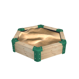 TP121 Forest Hexagonal Sandpit