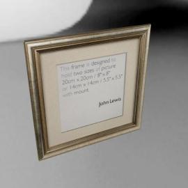 """Amelia Frame, Silver, 8"""" x 8"""" (20 x 20cm)"""