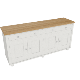 Suffolk 6ft 4 Door Sideboard