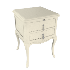 Rose Bedside Table, Ivory