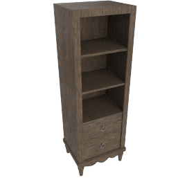 Lexington 2-Drawer 3-Shelf Storage Unit
