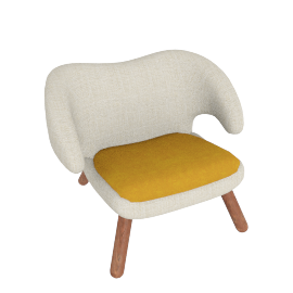 Pelican Chair - Fabric C - Cream.Sand