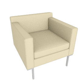 Theatre Armchair, Ducale Wool, Ivory