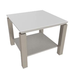 Parlin End Table, Wht/Gry