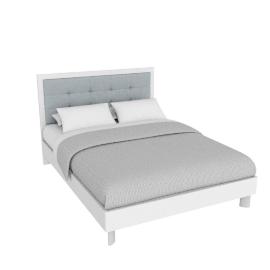 Next 155 X 205 Bed -Hg Wht/Hg Pearl Grey