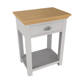 Downton 1 Drawer Bedside Table, Grey